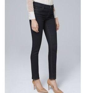 WHBM Dark Wash Embellished Slim Leg Skinny Jeans 6
